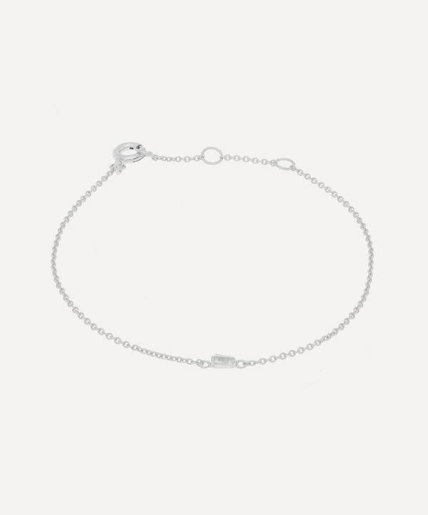 Silver Baguette White Topaz Bracelet