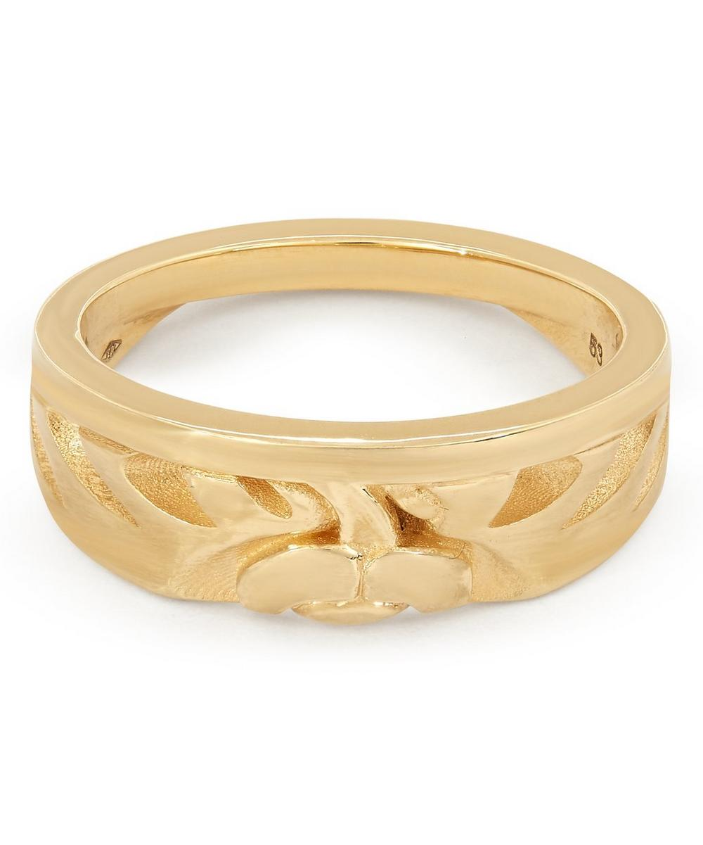 Liberty London Gold Large Half-moon Ring