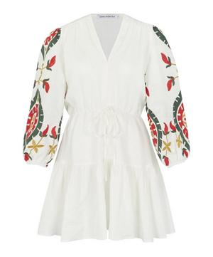 Embroidered Flower Mini Dress