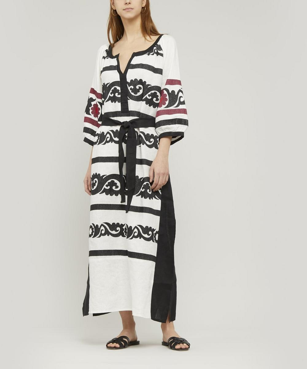 Embroidered Long Tunic Dress