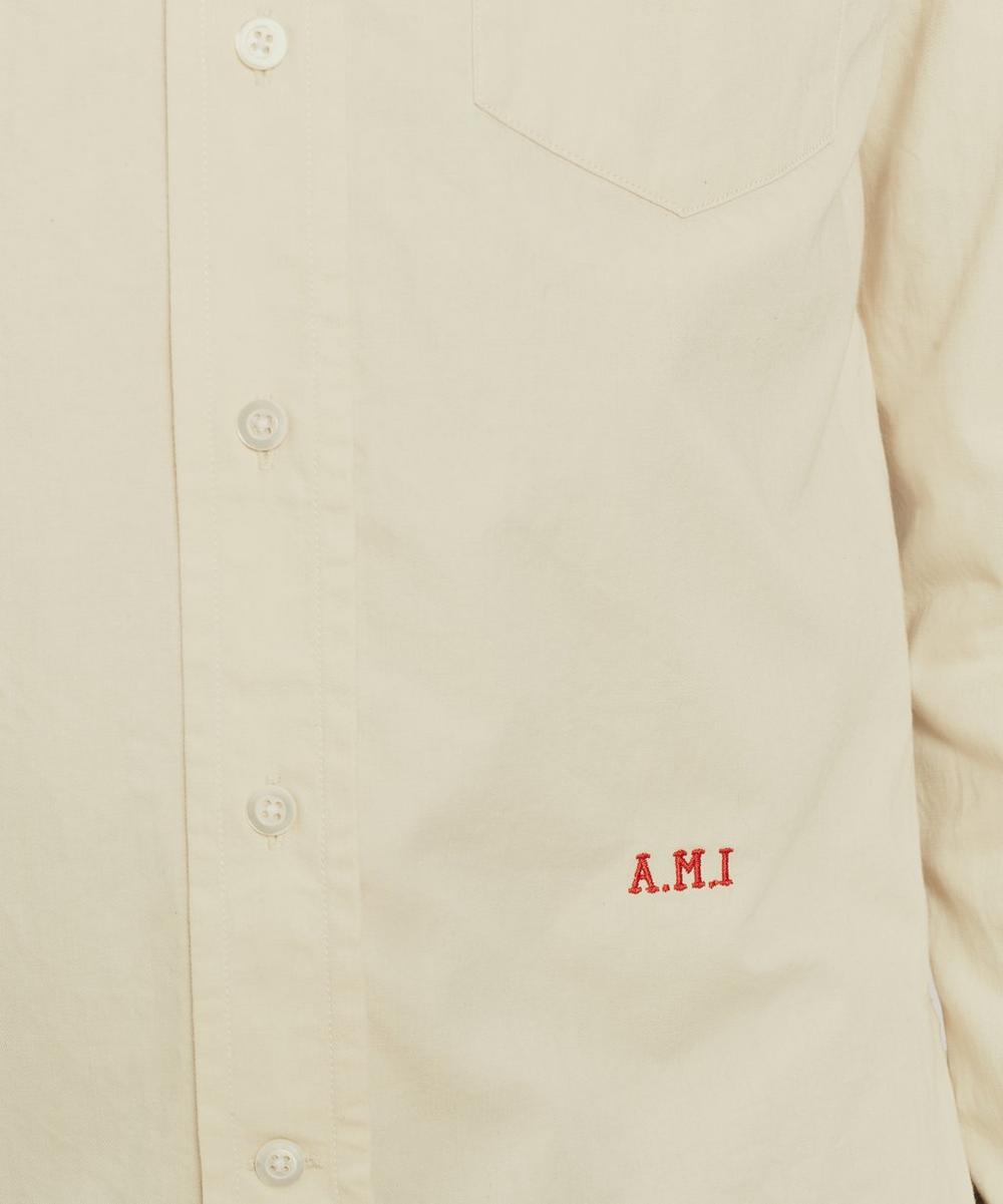Embroidered Cotton Poplin Logo Shirt