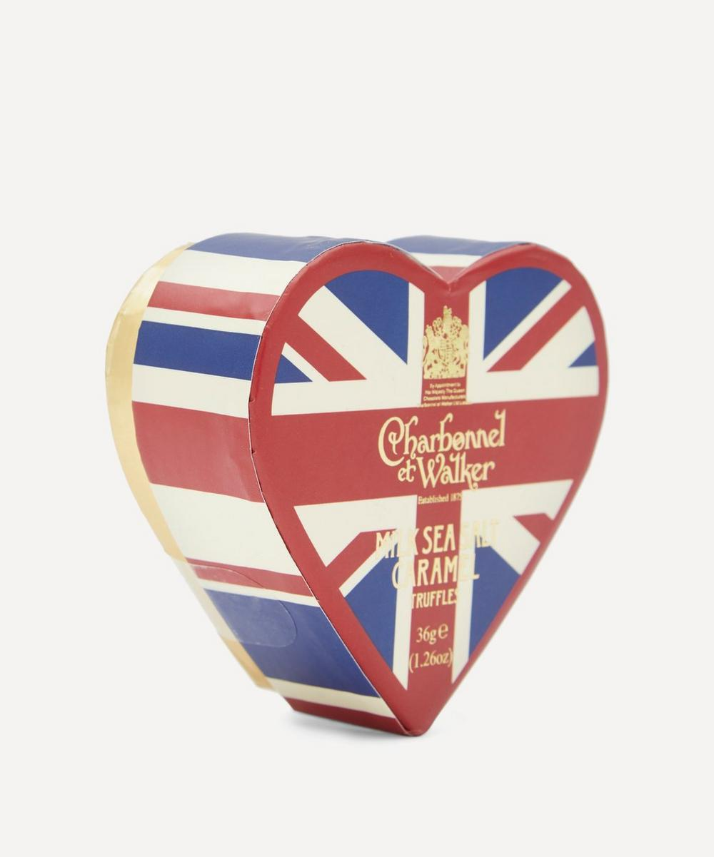 Union Jack Heart Milk Sea Salt Caramel Truffles 36g