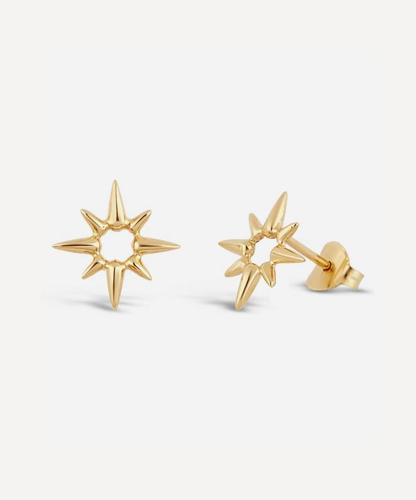 Dinny Hall - Gold Plated Vermeil Silver Sunbeam Marianne Stud Earrings