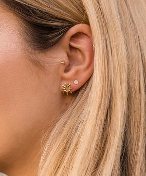 Gold Vermeil Sunbeam Marianne Stud Earrings