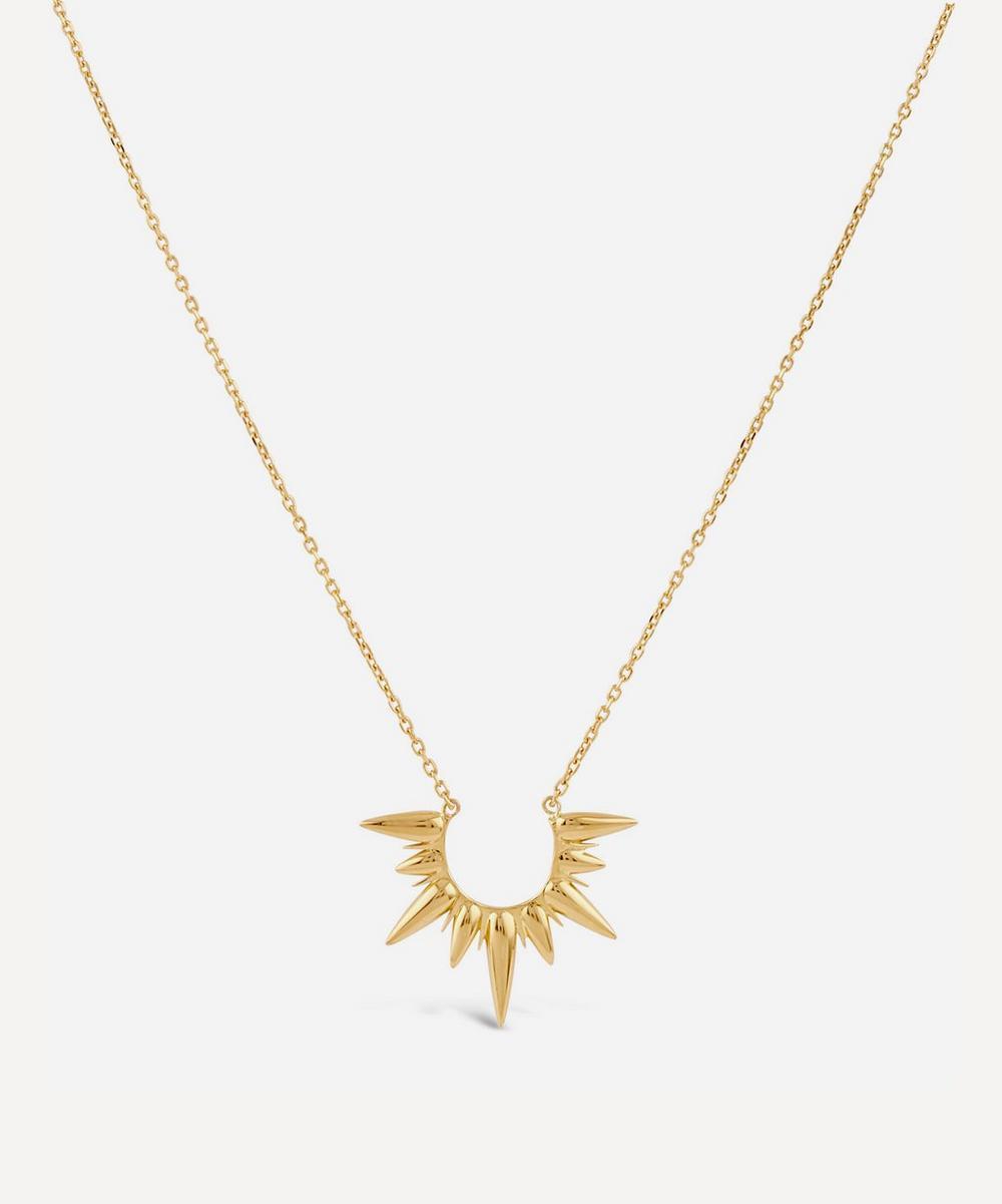 Gold Vermeil Sunbeam Alexa Large Pendant Necklace