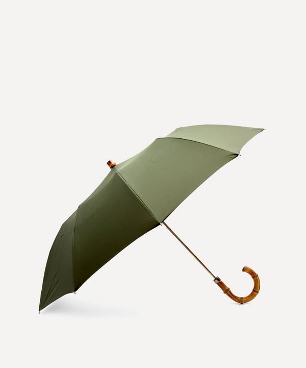 London Undercover - Whangee Cane Crook Handle Telescopic Foldable Umbrella