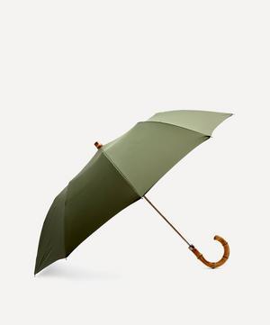 Whangee Cane Crook Handle Telescopic Foldable Umbrella