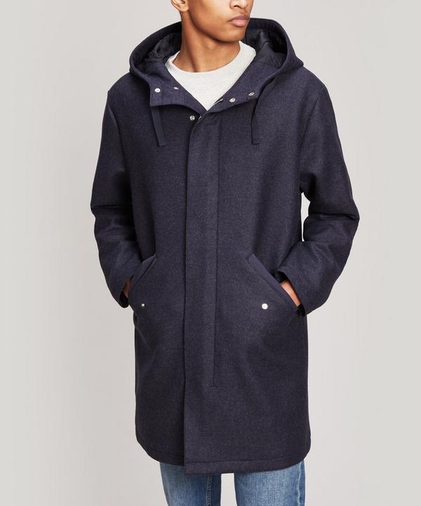 Benoit Wool-Blend Parka Coat