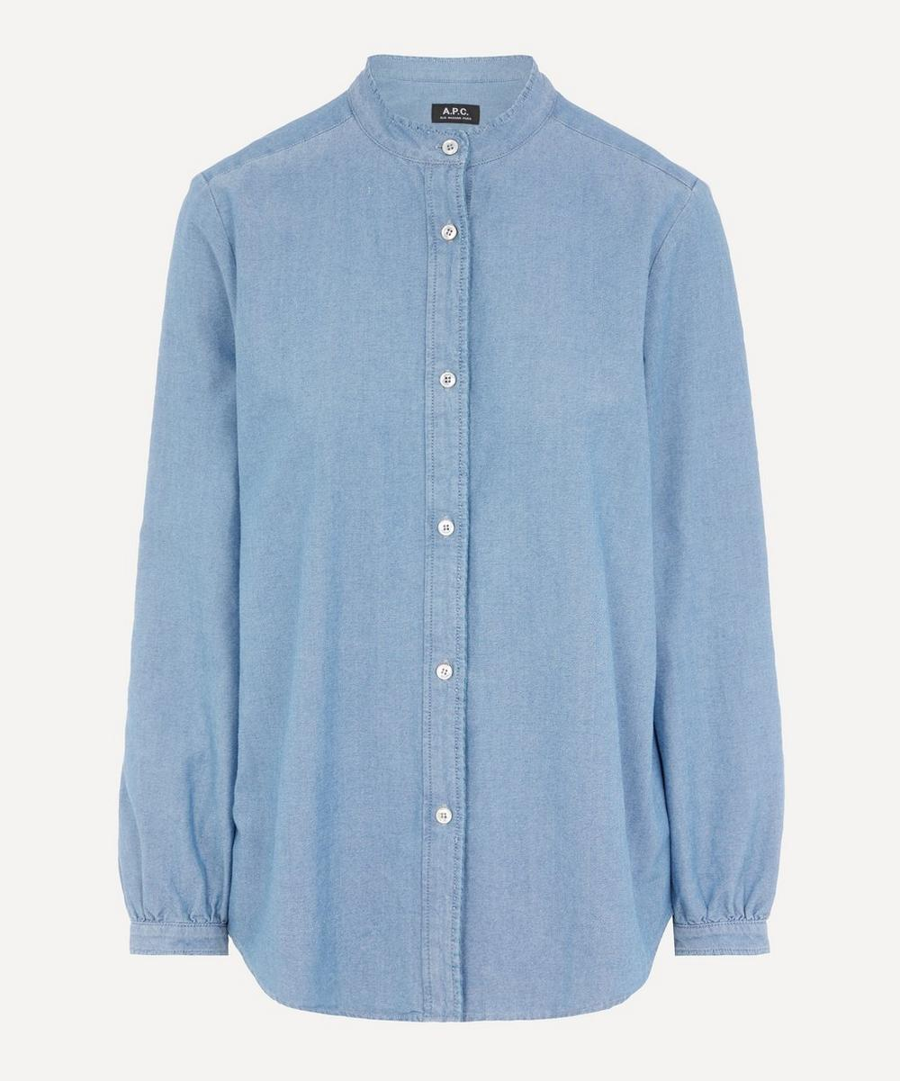 A.P.C. Antoinette Cotton-Chambray Shirt