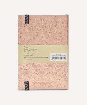 A6 Sunset Copper Embossed Paseo Notebook