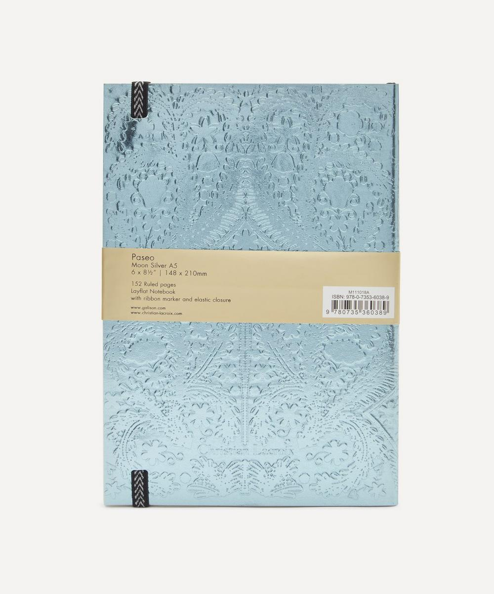 A5 Moon Silver Embossed Paseo Notebook