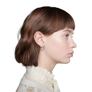 White Gold GG Running Diamond Hoop Earrings