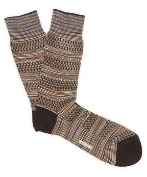 Geometric Stripe Socks