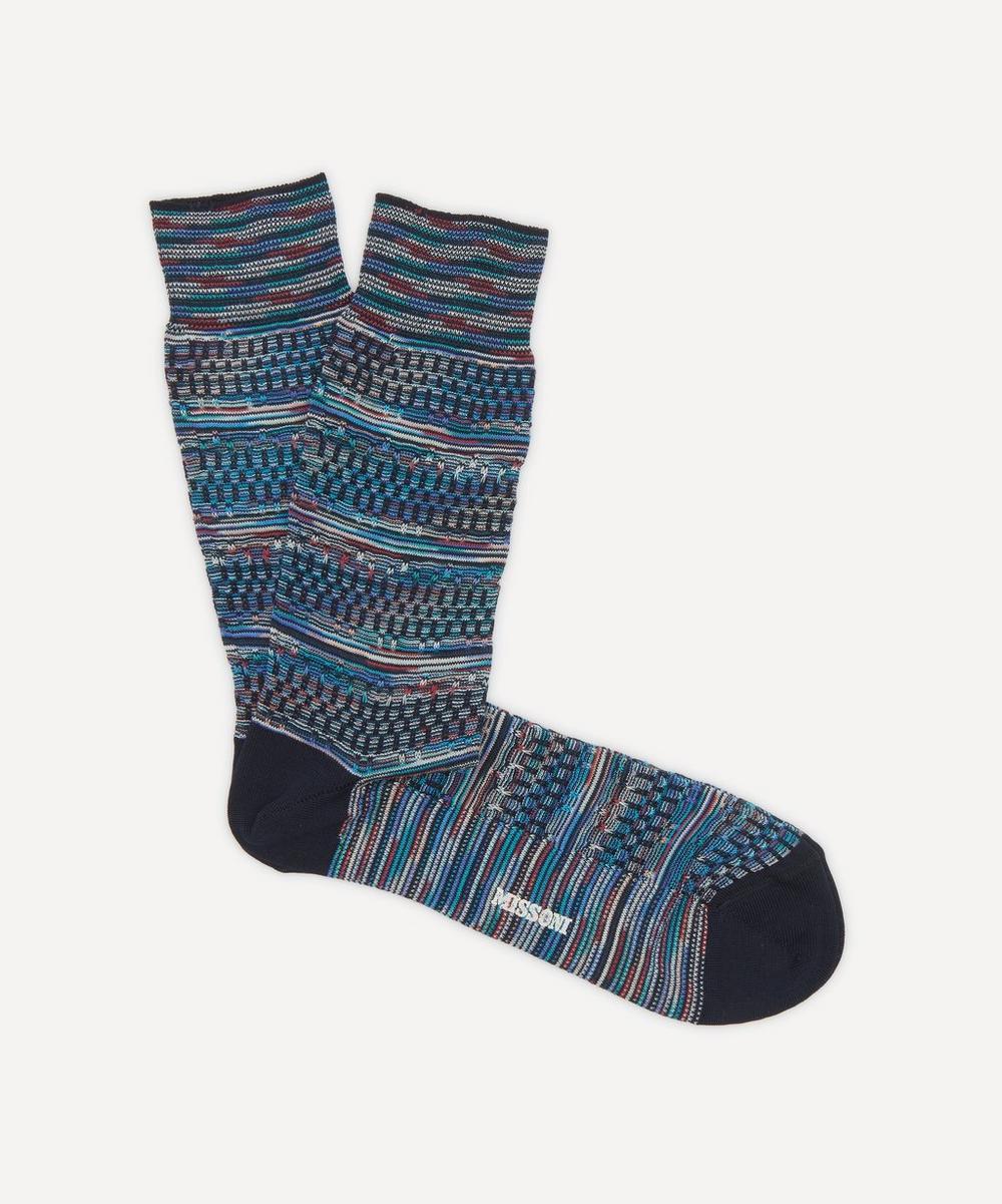 Geometric Stripe Socks