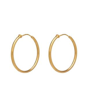 Gold-Plated Medium Hoop Earrings