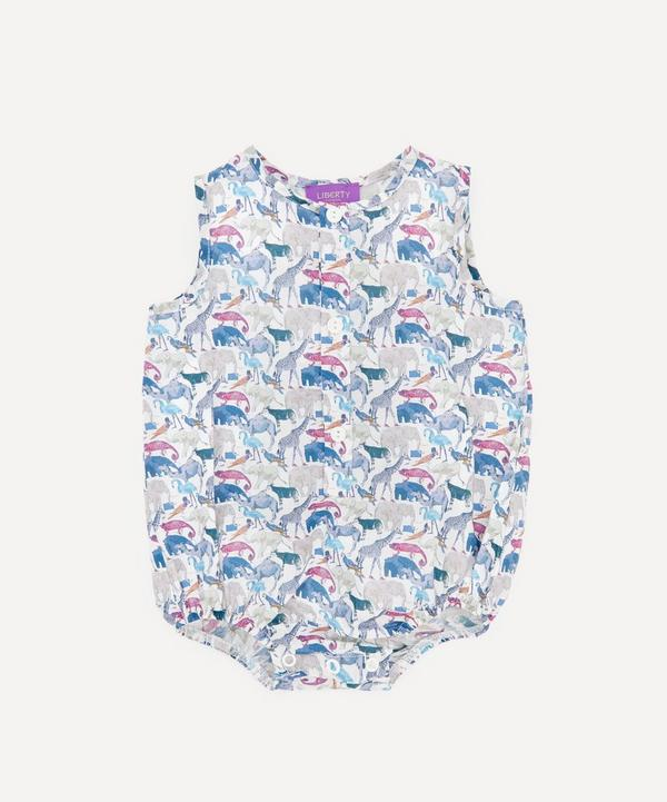 Liberty - Queue For The Zoo Button-Up Romper 3-24 Months