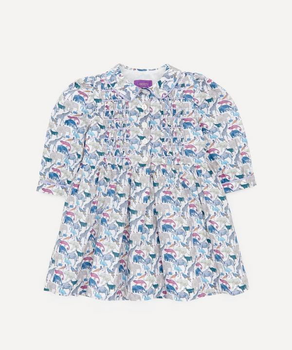 Liberty - Queue For The Zoo Long Sleeved Shirt Dress 2-10 Years