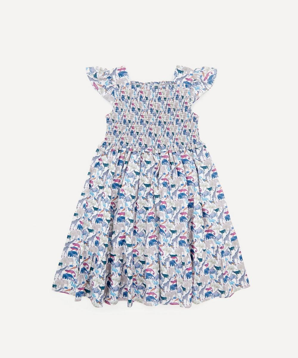 Liberty - Queue for the Zoo Ruched Ruffle Dress 2-10 Years