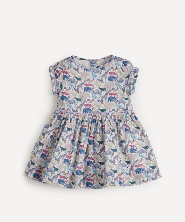 Liberty - Queue For The Zoo Short Sleeved Dress 3-24 Months