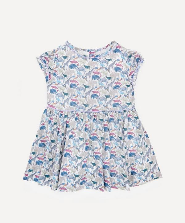 Liberty - Queue For The Zoo Short Sleeved Dress 2-10 Years