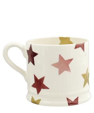 Pink and Gold Stars Small Mug