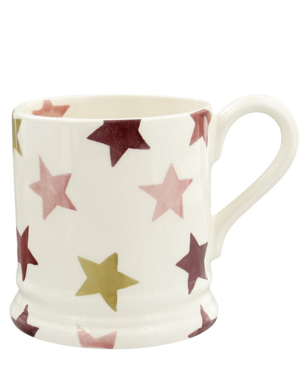 Pink and Gold Stars Half-Pint Mug