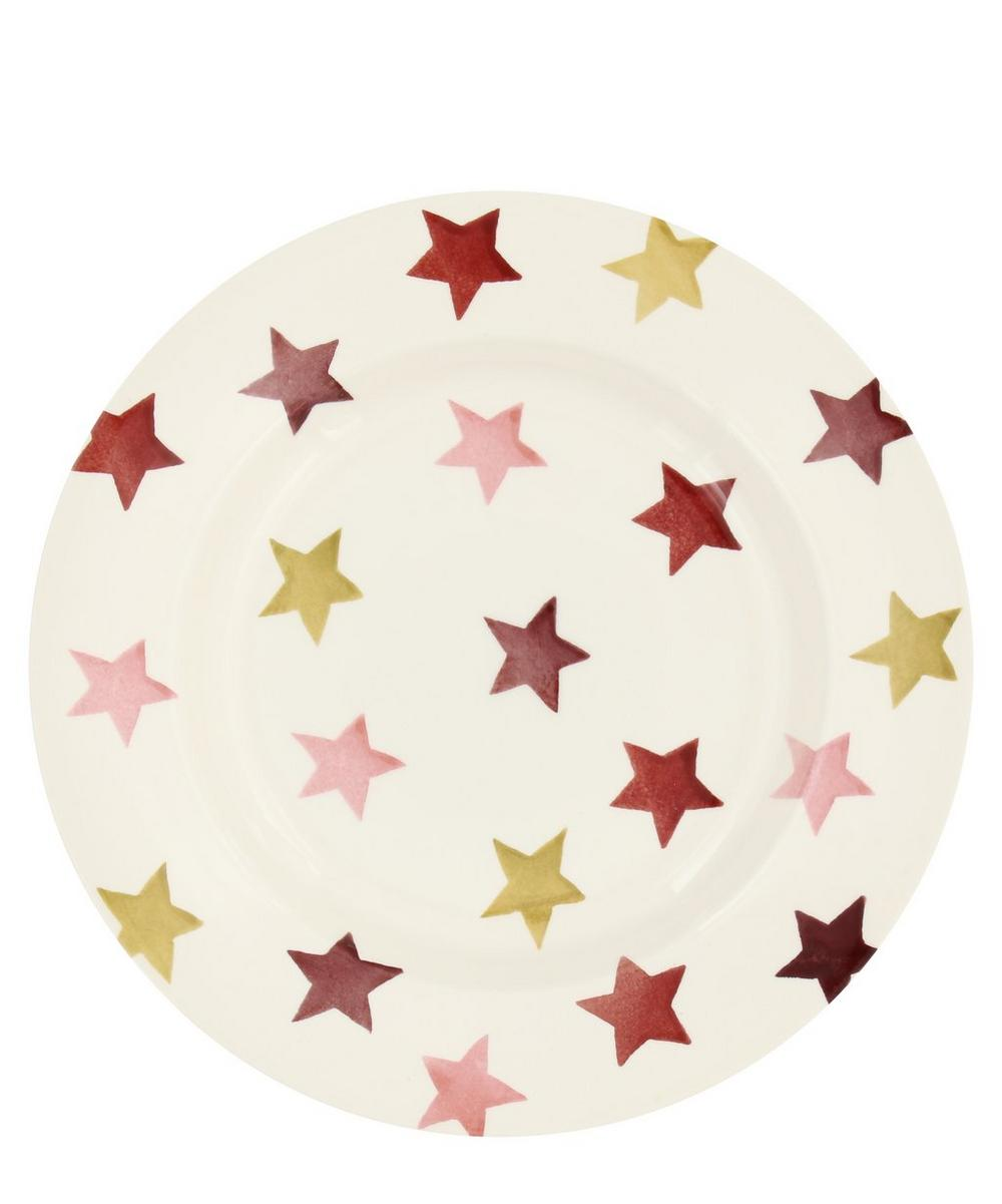 Pink and Gold Stars 8.5-Inch Plate