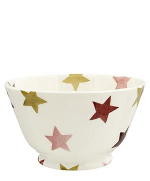Pink and Gold Stars Small Old Bowl