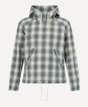 Over Dye Checked Cotton Hoodie
