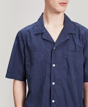 Short-Sleeve Open Collar Shirt