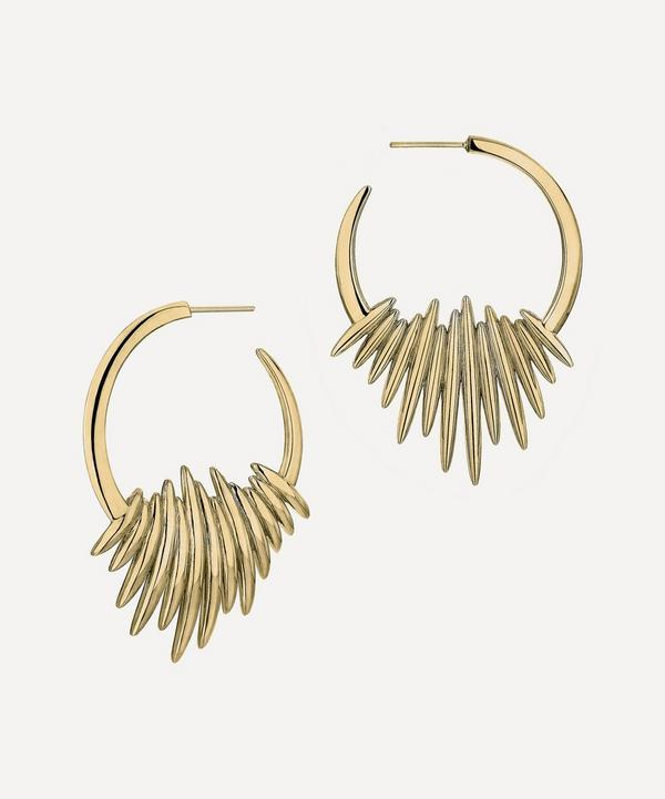 Shaun Leane - Gold Plated Vermeil Silver Quill Hoop Earrings