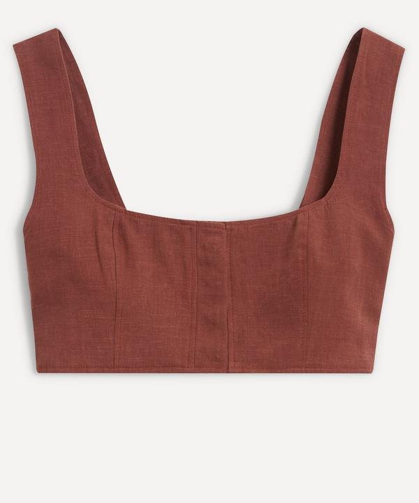 Le Kasha - Jirja Linen Crop Top