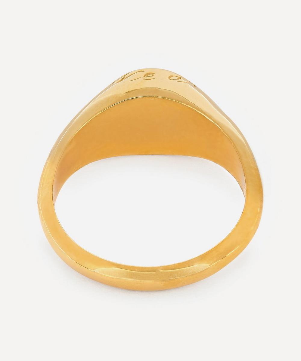 Gold-Plated Pearl Birthstone Ring