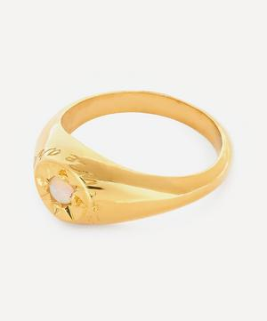 Gold-Plated Opal Birthstone Ring