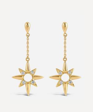 18ct Gold Sunbeam Lady Clare Diamond Drop Earrings