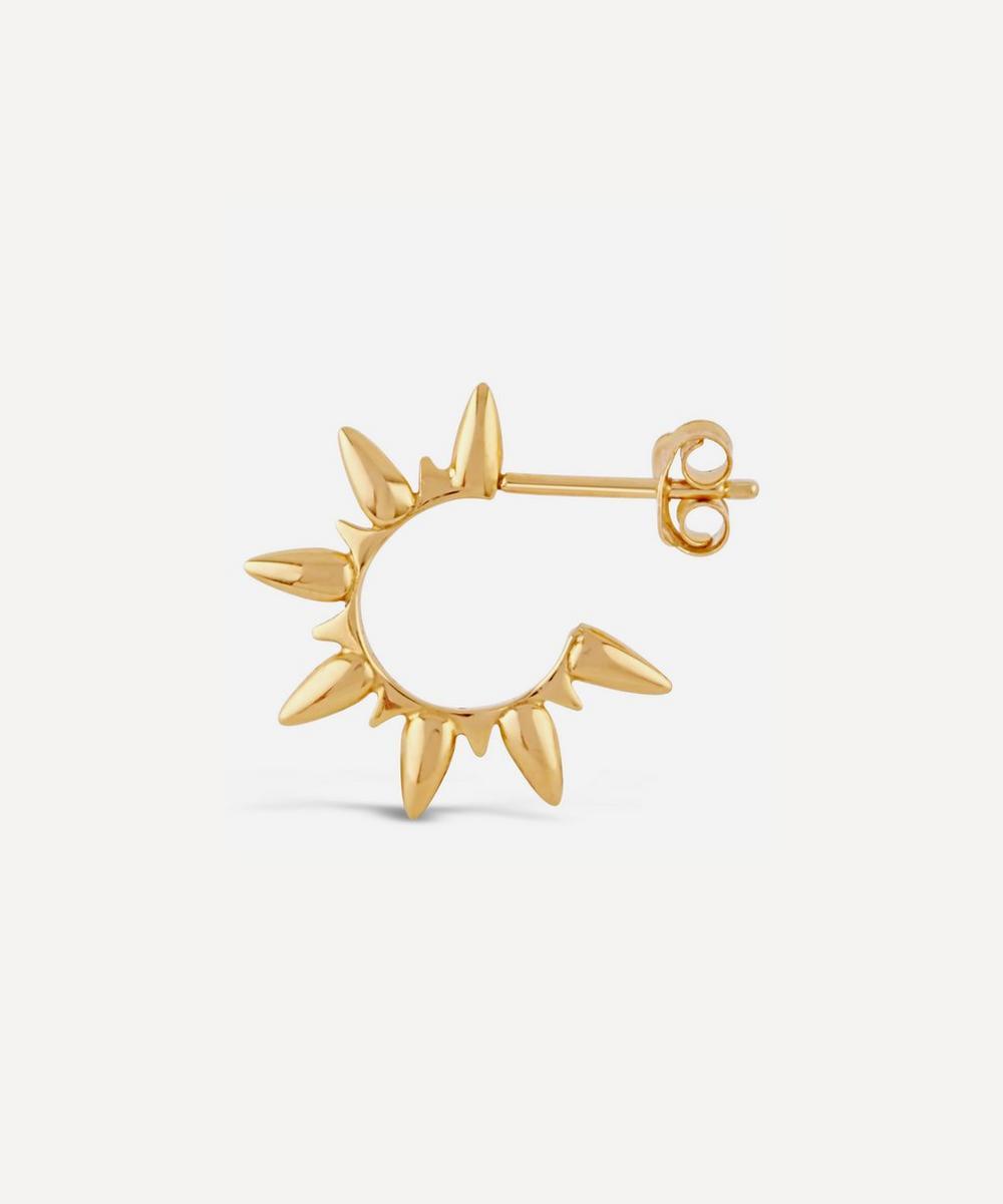 Gold Vermeil Sunbeam Ada Hoop Earrings