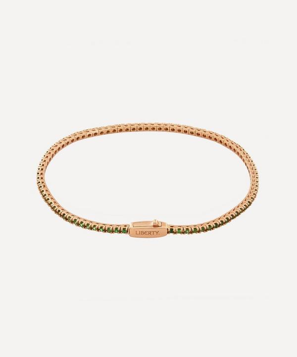 Liberty - Rose Gold Tsavorite Rainbow Tennis Bracelet