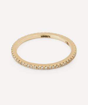 White Gold Diamond Rainbow Ring