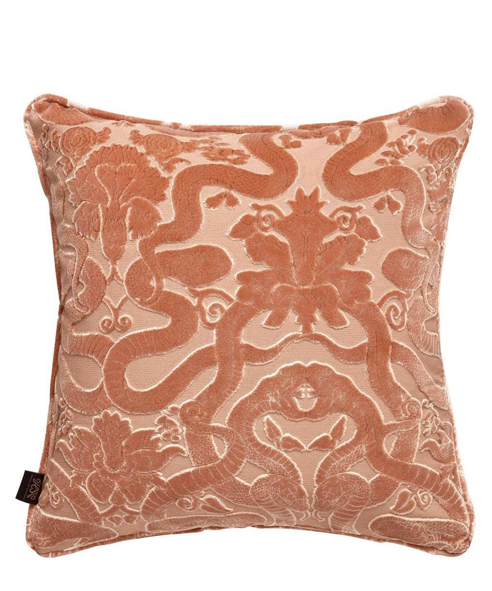 Anaconda Cotton Velvet Piped Cushion