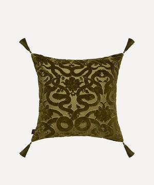 Anaconda Cotton Velvet Tassel Cushion