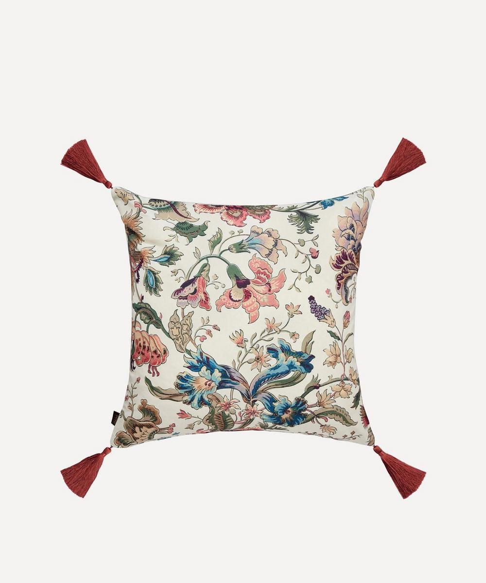 Majorelle Cotton Linen Tassel Cushion