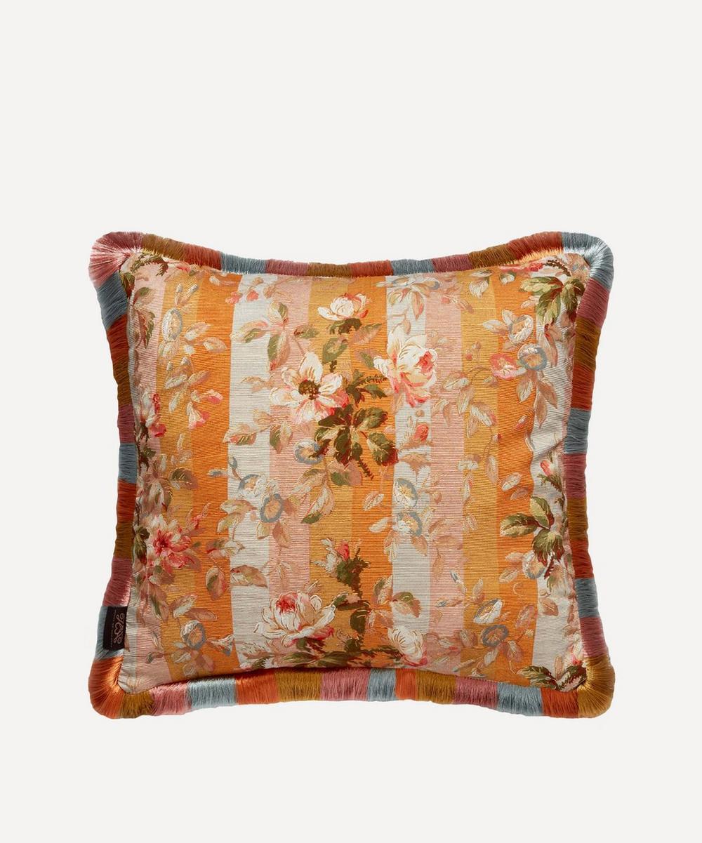 Rainbow Rose Medium Cotton Linen Cushion