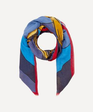 Lobster Cotton and Linen-Blend Scarf