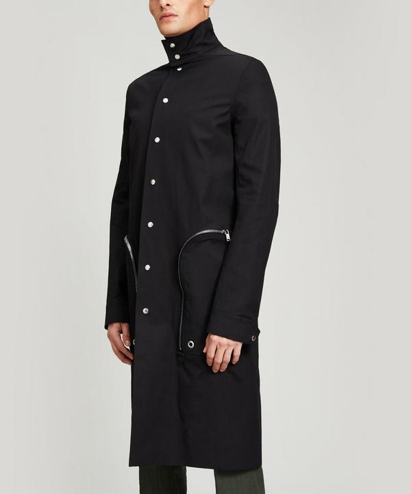 Zip Pocket Long Nylon Coat