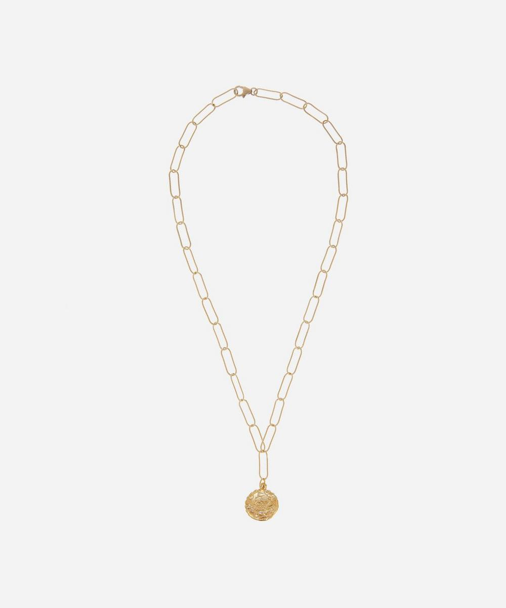 Gold-Plated The Columba Pendant Necklace