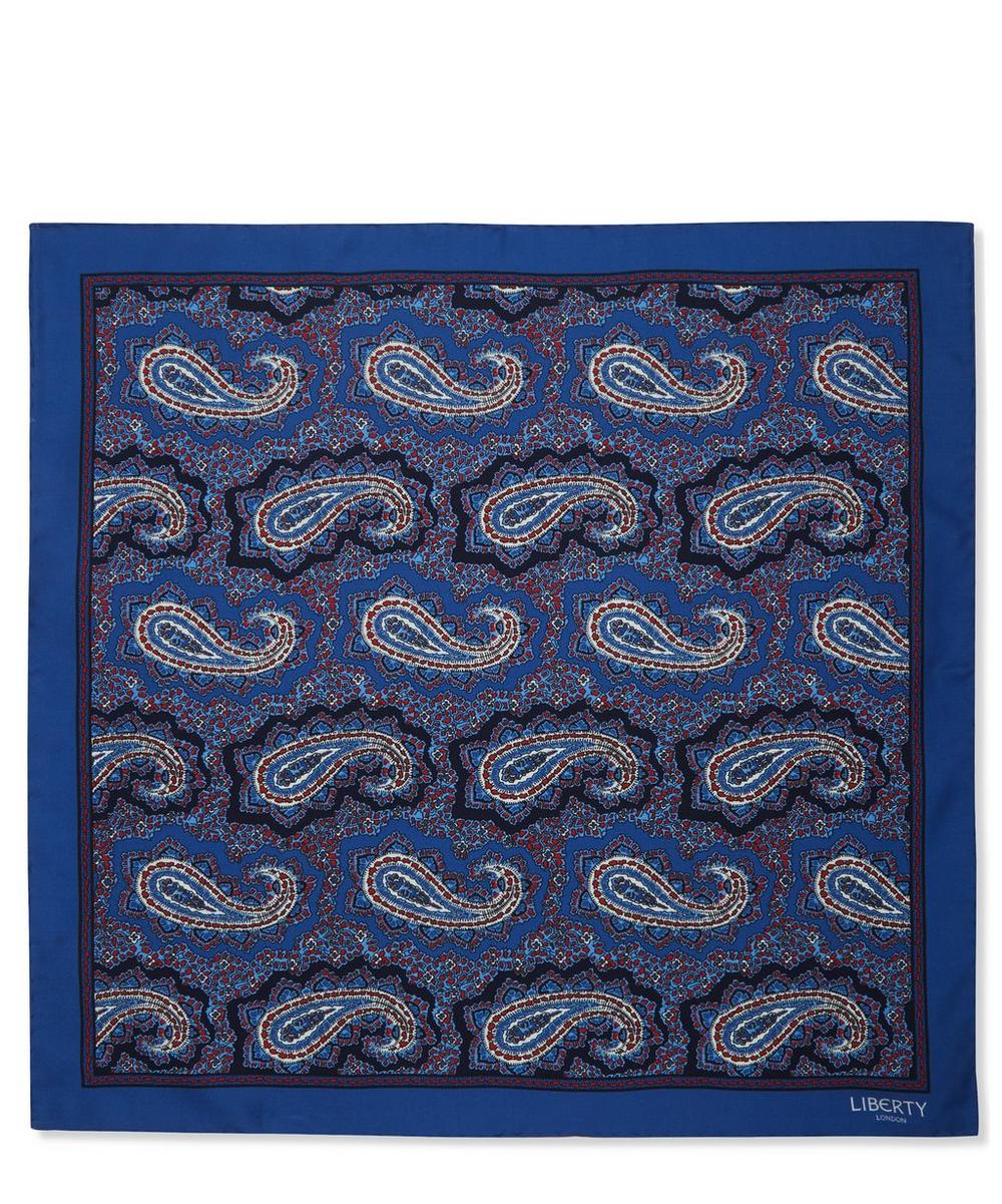 Poynton Printed Silk Pocket Square