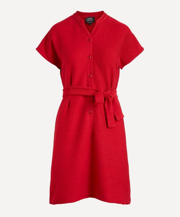 A.P.C. - Nico Cotton Jersey Belted Dress