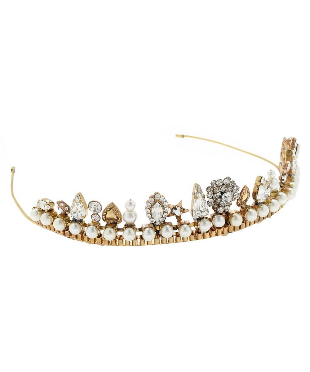 Albertina Crystal and Pearl Tiara