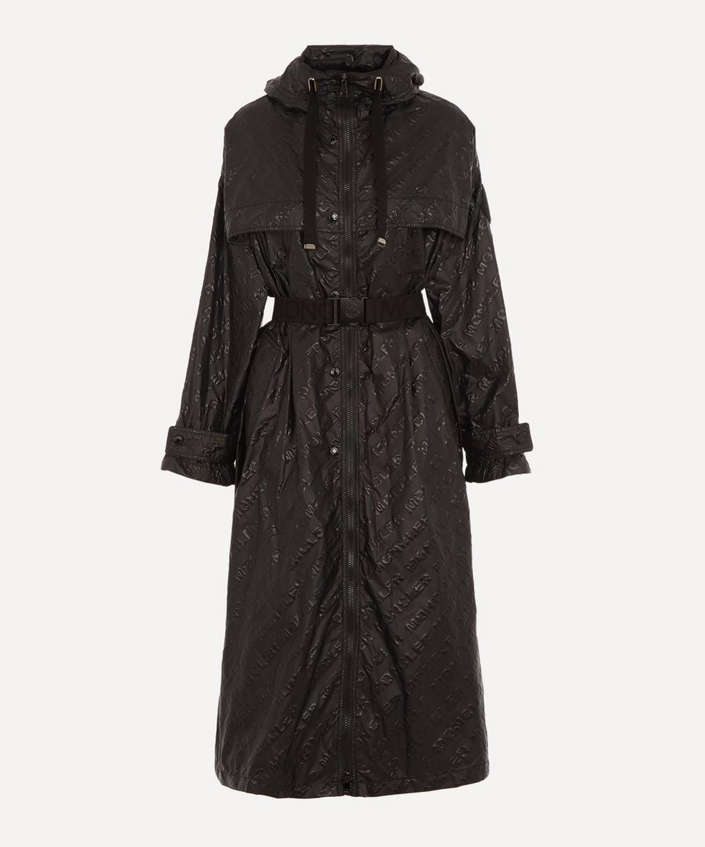 Moncler - Bouteille Embossed Nylon Trench Coat