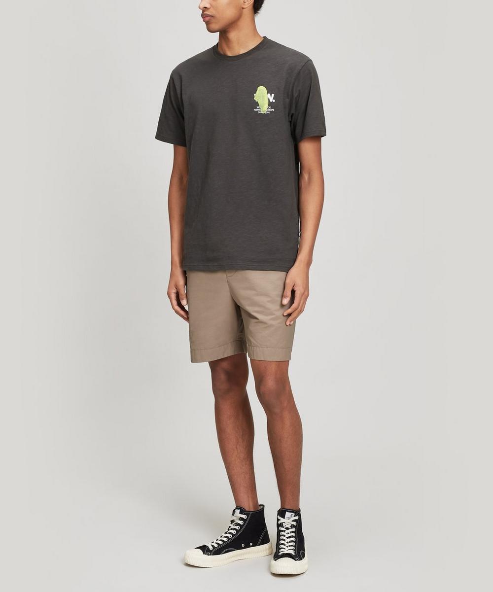 Slater Brush Stroke Logo Cotton T-Shirt